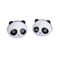 New 2014 Brand New 2 Pcs Panda Car Air Freshener Perfume w/Two Clips - Black  Free Shipping