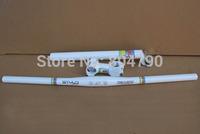 MTB Bike Road Bicycle handlebars group one-shaped handlebars/Stem/Seatpost 27.2/30.4/30.8/31.6mm Set white New