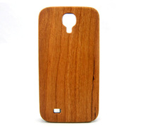 Cherry wood,  PC Bottom (Not carving) Case for Samsung S4