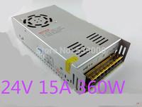 AC100V-240V Input,24V Output 24V 15A 360W Switching Power Supply Driver For LED Strip light Display