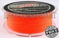 Free shipping! PE Dyneema Braided Fishing Line 300M Orange 8LB 0.10mm 328 Yard Spectra Braid
