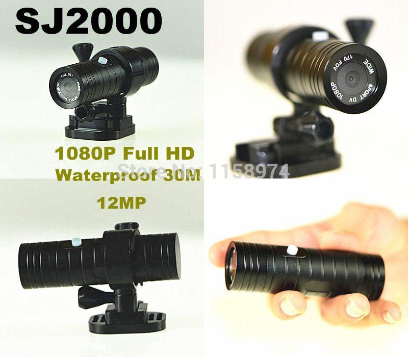 Fast shipping 1080P Full HD 12MP Waterproof 30M Sports DV SJ2000 Helmet Camera Action Camera DVR(China (Mainland))
