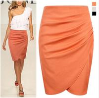 2014 Free Shipping New Fashion Womens' Business Suit Pencil Skirt Summer OL Skirts For Women Knee Length Step skirt LQ9297S14402