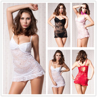 R7335 Free shipping many color women's baby doll good quality sleepwear 2015 new arrival lace material sexy underwear
