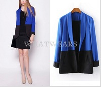 Free Shipping Womens Patched Casual Slim Fit Blazers Outwears Tops Suits [3 70-4280]