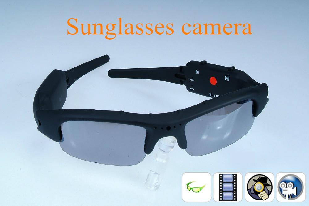 Free shipping Mini DV DVR Sunglasses sunglasses Camera Audio Video Recorder(China (Mainland))