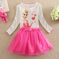 Retail 3-8Y Frozen style new 2014 Frozen dress Elsa princess dress, baby girls dresses,children's clothing for girls clothing