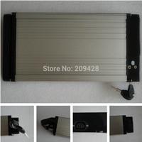 Free shipping NOT BATTERY 1set flat type e-bike battery Aluminum case Al case for 36V48V 10Ah DIY repair exchange battery