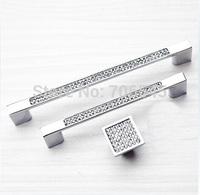 Free shipping 10pcs K9  Crystal  drawer  wardrobe door handles  cabinet handle (two holes length=96mm)