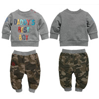 free shipping 2014 newest!children sets boys and girls track suit leisure suit terry sports set hoody + pants long sleeve set