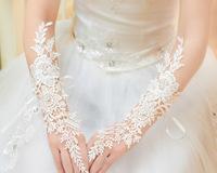 Free shipping,Hook finger lace, bridal wedding dress gloves