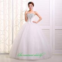 2014 sweet vintage bandage tube top wedding dress princess bride wedding dress vestido de novia vestido de noiva 085