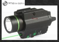 Vectop Optics Doublecross Tactical LED Pistol Flashlight Green Laser Combo Handgun Sight 200 Lumens Weapon Light Fit GLOCK 1911