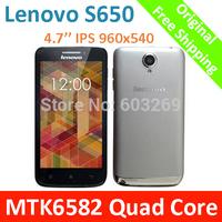 Original Lenovo S650 VIBE X Mini MTK6582 Quad Core Mobile Phone 4.7'' Inch IPS 960x540 1GB RAM 8GB ROM Android 4.2 smartphone