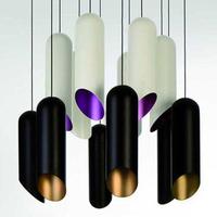 Modern brief lighting dining room pendant light bamboo aluminum coffee lamps