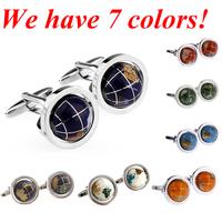 Fashion Cuff Link Globe Cufflink Brand 1 Pair Free Shipping Crazy Promotion