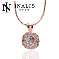 N441 Wholesale! Nickle Free Antiallergic 18K Real Gold Plated Necklace & pendants New Fashion Jewelry For Women, Free Shipping