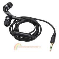 R1B1 In-Ear 3.5mm Adjustable Volume Earbud Earphone Headset For iPod MP4 Black