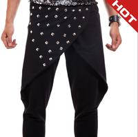 Free shipping DJ personality rivet bar harem pants pants male DS