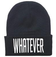4H309  WHATEVER bboy 2014 New Knitting Winter Wool Acrylic Brand Beanies Hip Hop Warm Hats / Gorros / Bonnets  Men Women Caps