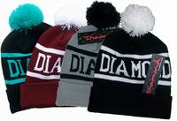 4H300 2014 new arrival Hip hop Jordan beanie black white knitted hats, diamond men & women winter Skullies Beanies Free shipping