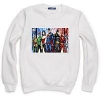 Marvel DC Comic Superman Hulk Iron Man Hero Sweatshirt For Men Women Flock Fleece Hoody Pullover Thick Warm Winter XXXL ZY053-02