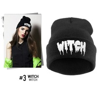 4H343 KILLSTAR the same style models punk WITCH same paragraph letter alphabet hat knitted hatcap tide