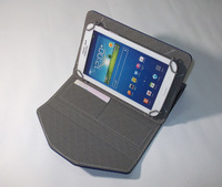 500PCS With Card Slot Universal 7'' Tablet Cover Stand PU Case,Folding Stand Leather Case Tablets Protectors Skin