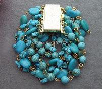 Great! 9Strds Turquoise Bracelet  +FREE SHIPPMENT