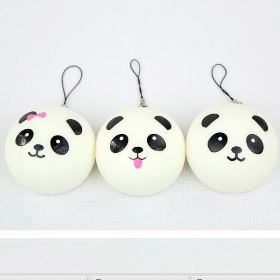 New Cute panda baby squishy charm / Soft mobile phone strap panda / Free shipping(China (Mainland))