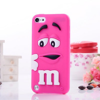 For ipod touch 5 case M&M'S chocolate candy rubber silicone back cases covers For iPod 5 free shipping