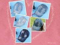 Free shipping 2014 new Korean female diamond pentagram spring tide hat cowboy hat