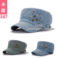 YJE-387 Korea cap topped hat Kepi star skull cap