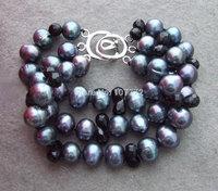New!!! 11mm Pearl&Crystal Bracelet  +FREE SHIPPMENT