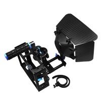 DSLR RIG Camera Cage kit +Top Handle+15mm Aluminum Rod Block Plate+Follow Focus+Matte Box stabilizer For Canon 500D Nikon D7000