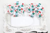 Santa Claus Christmas Hair Clip  Christmas Hair Bow  Christmas headband,Holiday Hair Clip Christmas Hair Accessories 15set/lot