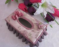 Home Decals fashion fabric tissue box bow paper pumping box car home supplies