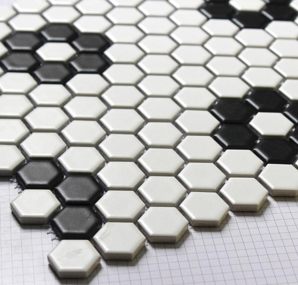 piastrelle in bianco e nero mosaico parquet perplesso piastrelle ...