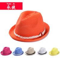 YJA-005 new twist braid decoration air Jazz lady summer outdoor sunshade hat cap