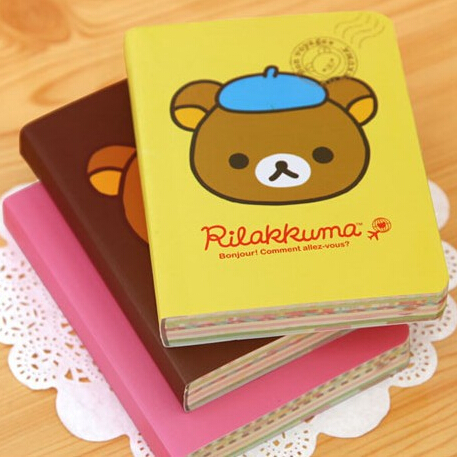 Free Shipping/NEW cute cartoon rilakkuma style DIY MINI Notebook/Notepad Memo/Diary(China (Mainland))
