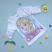 Original Quality & Design Frozen Tshirt Long-sleeved t-shirt Children's Spring and Autumn T Shirt