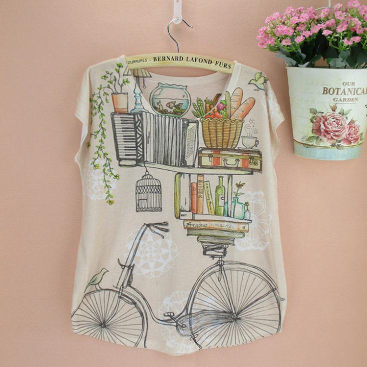 Newest design summer dress women's t-shirt wholesale low price American & European lady fashion tee shirts drop free shipping(China (Mainland))