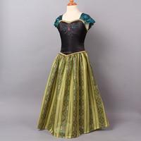 2014 Sale Rushed Meninas Vestir Kidsdress Hotsale Dresses Anna Coronation Vestido Girls Dress Frozen Yarn Short-sleeve Party