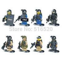Wholesale Squad Navy Seal Team SWAT Army LELE 78057 Figures Toys Building Blocks Sets Model Bricks Minifigures Toys