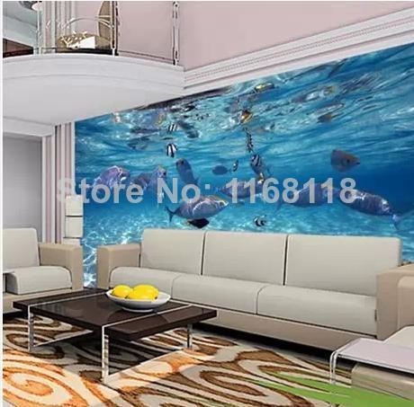 Underwater world of marine fish living room children s room tv