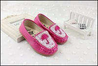 New Cute kids shoes Girls Flats shoes Cute Crystal shoes Children garden casual shoes Free shipping