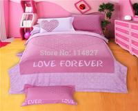 Home textile,100% cotton Classic Wedding 4pcs reactive printing pink Leopard grain Romantic love bedding set,King queen size,