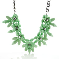 Wholesale New Fashion jewelry,Original flower exaggeration sweater necklace pendant women's necklaces Free shipping W090