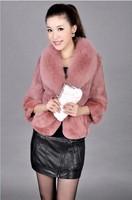Free shipping faux fur coat  2014 winter coat  new Fox Fur imitation otter rabbit hair short Loose coat Jacket women's coat