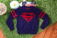 Free Shipping 2-8YBoys/Girls Spring/Autumn Superman Sweater/Kid sweaters Wholesaler roupa infantil menino roupa de bebe menino